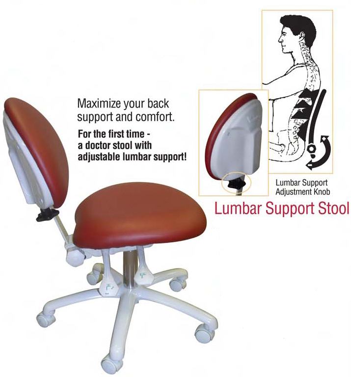 rolling stool with back support 2